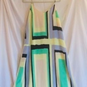 Charlie Jade maxi geometric trapeze dress New (M)